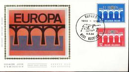 """[66166]TB//-N° 2130/31 1984 - FDC - Europa-Cept - """"KLERKEN"""", Pont, SC, Soie, SNC - 1981-90"""