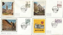 """[66203]TB//-N° 2146/49 - FDC - Les Abbayes - Obl """"CHIMAY"""", Série Complète, Soie, SNC - 1981-90"""
