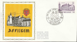 "[66246]TB//-N° 2149 - FDC - Abbaye D'Affligem - Obl ""HEKELGEM"", Soie, SNC - 1981-90"
