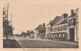 78 COIGNIERES     Route Nationale  TB PLAN  1943  RARE  ... Avec Auberge Saint-Christophe - Altri Comuni
