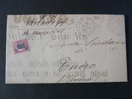 """1830 ITALIA Regno-1878- """"Ondine"""" C. 2 Su 0,05 CONTIGLIANO>RIETI (descrizione) - 1861-78 Vittorio Emanuele II"""