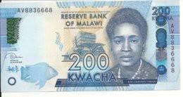 MALAWI 200 KWACHA 2019 UNC P 60 E - Malawi