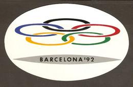 AUTOCOLLANT ADHÉSIF STICKER JO 1992 JEUX OLYMPIQUES 1992 BARCELONA 92 BARCELONE 92 - ESPAGNE SPAIN - Olympische Spelen