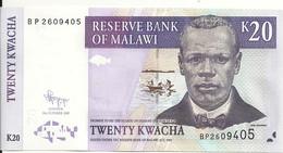 MALAWI 20 KWACHA  2009 UNC P 52 E - Malawi