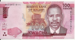 MALAWI 100 KWACHA 2017 UNC P 65 C - Malawi