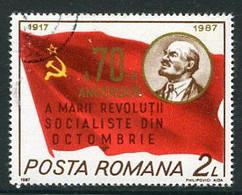 ROMANIA 1987  October Revolution Anniversary Used.  Michel 4417 - Usati