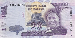 MALAWI 20 KWACHA  2012 UNC P 57 - Malawi