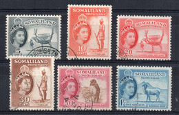 Somaliland - 1953 - Definitves (Part Set) - Used - Somaliland (Protectorate ...-1959)