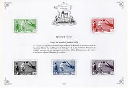 FRANCE -BLOC PATRIMOINE DE FRANCE EN TIMBRES **  -SPORTS ET LOISIRS -FOOT BALL 1938 - Mint/Hinged
