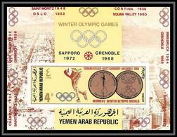 YAR (nord Yemen) - 3595/ Bloc N° 74 B Non Dentelé Imperf ** MNH Jeux Olympiques (olympic Games) Keller Skating ** MNH - Winter 1968: Grenoble