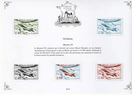 FRANCE - BLOC PATRIMOINE DE FRANCE EN TIMBRES **  - AVIATION - MYSTERE IV - Mint/Hinged