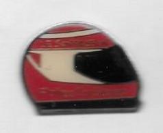 Pin's  Sport  Automobile  F 1, Casque  Rouge  Avec  LE  SON  PASSION  Et  Philips  Dar  Stéréo - F1