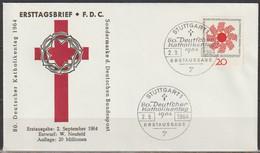 BRD FDC 1964 Nr.444 Katholikentag Stuttgart ( D 720 ) Günstige Versandkosten - [7] Repubblica Federale