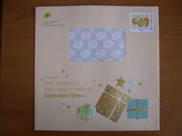 Enveloppe La Poste  225x225 Montimbramoi Monde 250g Déco Sapin De Noel - PAP:  Varia (1995-...)