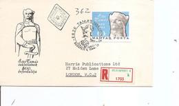 Hongrie ( FDC De 1966 Voyagé En Recommandé De Budapest Vers La Grande-Bretagne - Voir Timbre Non Dentelé) - Hungary