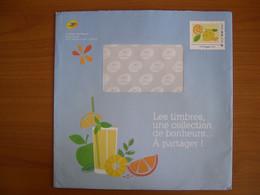 Enveloppe La Poste  225x225 Montimbramoi International 250g Citron - PAP:  Varia (1995-...)