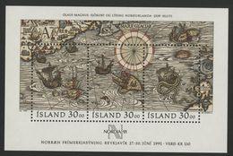 "1989 ISLANDE ICELAND COTE 13  € BLOC FEUILLET N° 10 Neuf ** (MNH). ""Nordia 91"" - Blocks & Sheetlets"