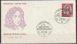 BRD FDC 1966 Nr.518   250.Todestag Gottfried Wilhelm Leibnitz ( D 986 ) Günstige Versandkosten - [7] Repubblica Federale