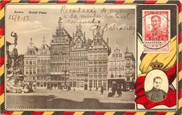 Belgique - Anvers -Grand' Place - Fantaisie Expo - Roi Albert - Antwerpen