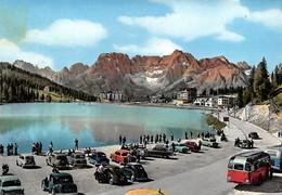 """1461""""LAGO DI MISURINA(BELLUNO)-SORAPIS """" 1958 ANIMATA AUTO BUS ANNI 50 - Belluno"""