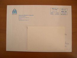 Enveloppe EMA Marseille  162x230 Illustration OM - EMA ( Maquina De Huellas A Franquear)