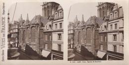 CAEN (Calvados 14) Paris Stéréo VUES De FRANCE S. 219 - 4480. Caen Eglise St Sauveur - TBE - Stereoscope Cards