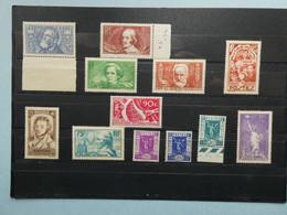 FRANCE Timbres De L'Année 1936 Neufs Sans Charnière MNH Cote 236 € - Andere