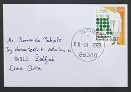 2020 Mini Cover 11.2 X 7.5 Cm, Bar To Žabljak Montenegro, 2019 The 150th Anniversary Of Birth Of Mohandas Gandhi - Montenegro