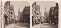 CAEN (Calvados 14) Paris Stéréo VUES De FRANCE S. 219 - 4479. Caen La Rue St-Pierre - TBE - Stereoscope Cards