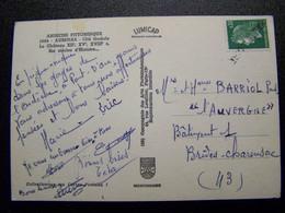 France - Oblitération De Fortune - Annulation Linéaire De HAUTE LOIRE  (43) - Sur Marianne De Cheferre - Sur CPSM - Unclassified