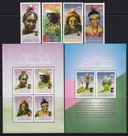 Papua New Guinea 2017 Faces MS + SS + 4v MNH - Papua-Neuguinea