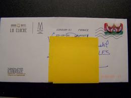 France - Enveloppe Grand Hôtel La Cloche Place Darcy DIJON (21) Gallery Hôtel Collection, Timbre Lèttre Verte 23/09/2020 - Marcophilie (Lettres)