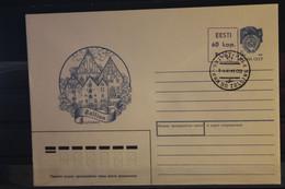 Eesti; UdSSR Ganzsache Tallinn Mit Stempelzudruck 60 Kop., Ersttagsstempel - Estonie