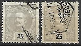 PORTUGAL    -    1895  .  Y&T N° 124 Oblitérés.  Nuances - 1892-1898 : D.Carlos I