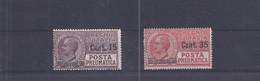Italien - Selt./postfr. Rohrpostwerte Aus 1927 - Michel 268/69! - Posta Pneumatica
