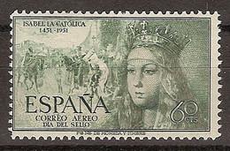 España 1097 ** Isabel. Aéreo. 1951 - 1951-60 Neufs