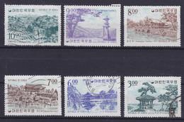 South Korea 1964 Mi. 428, 431-35  Sehenwürdigkeiten (*)/o - Corée Du Sud