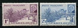 GUADELOUPE 1941 N° 161/162 ** Neufs MNH Superbes C 1.92 € Grande Soufrière Volcan Vulcano Pétain - Nuovi