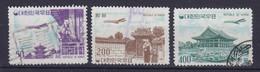 South Korea 1961 Mi. 338, 340-41 Flugzeug über Sehenwürdigkeiten - Corée Du Sud