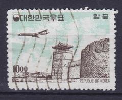 South Korea 1964 Mi. 423    10.00 (W) Flugzeug über Sehenwürdigkeiten - Corée Du Sud