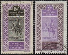 Haut-Sénégal Et Niger Obl. N° 34 + 18 - Targui - Chameau - Dromadaire - Oblitérés