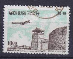 South Korea 1962 Mi. 372    10.00 (W) Flugzeug über Sehenwürdigkeiten - Corée Du Sud