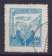 South Korea 1955 Mi. 188    20 H Wiederaufbau Wz. 1 (2 Scans) - Corée Du Sud