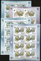 Sowjetunion/Russia 1987 Mi.5694-97 KB/Sc.5541-44 A M/S WWF Eisbär/Polarbear 4 Kleinbögen/4 Minisheets **/MNH - Blokken & Velletjes