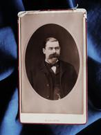 Photo CDV M. Lalande à Puteaux - Homme à La Superbe Moustache, Circa 1885 L521B - Old (before 1900)