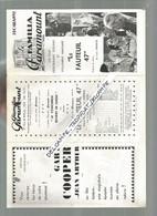 BB  / Programme CINEMA  PARAMOUNT 1937 Les Aventures De BUFFALO BILL  / LE FAUTEUIL 47 / RAIMU - Programmi