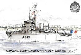 29-Brest-Batiment D'Expérimentations NARVIK- Dernière Cérémonie Des Couleurs-16.08.1988 - Other