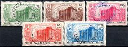 Martinique: Yvert N° 170/174 - Usati
