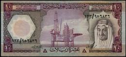 Saudi : Kingdom Of Saudi Arabia 10 Riyals. Kg. Faisl. Banknote 1977 - Arabia Saudita