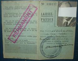 LAISSEZ PASSER .Ecole De L'Air Du CAP MATIFOU .Algérie. - Documenten